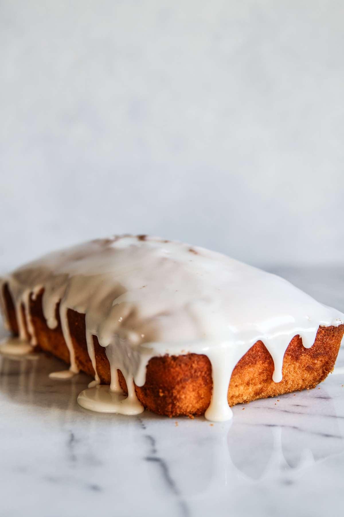 Lemon loaf with frosting