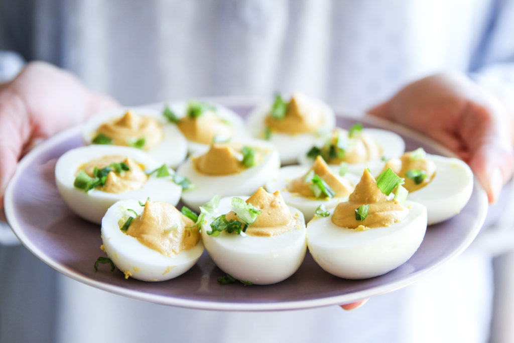 The best brunch dish are these miso deviled eggs