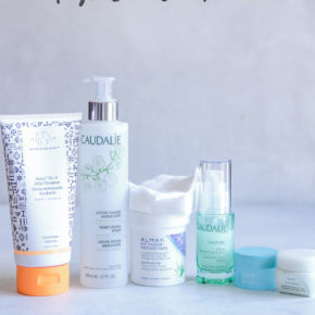 Night time skin care routine and products