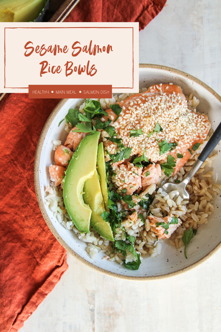 Easy and delicious sesame salmon rice bowls