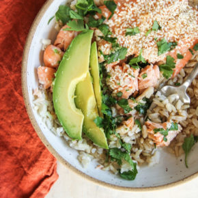 sesame salmon rice bowls recipe