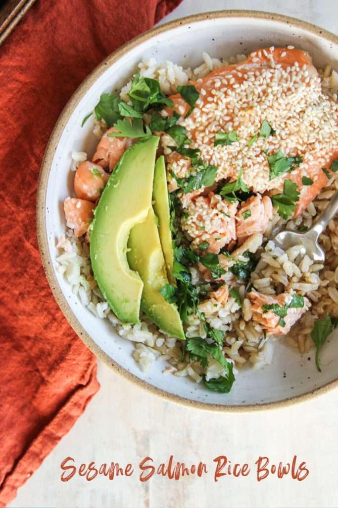 The best sesame salmon rice bowls recipe