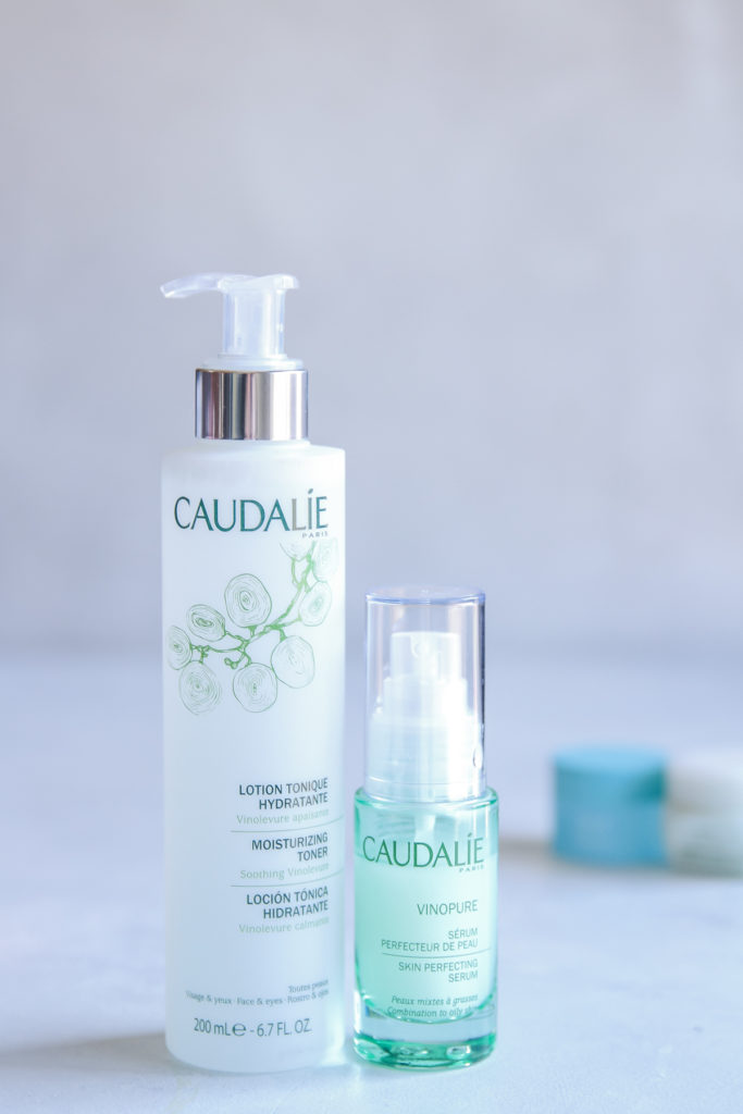 Caudalie toner - clean beauty products for night time skin care routine