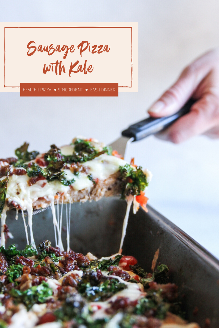 Sausage Pizza with Kale