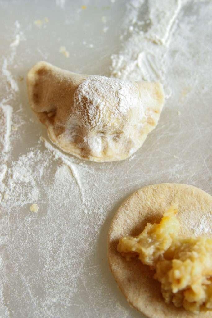 Homemade sourdough pierogi recipe