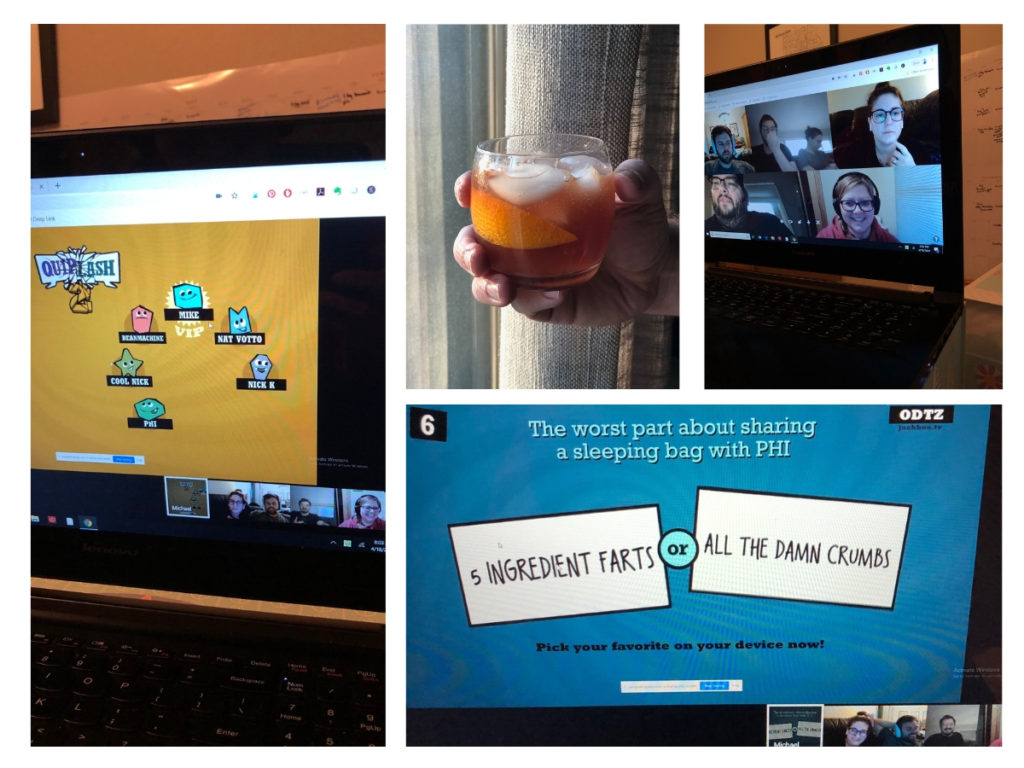 Virtual game night with friends