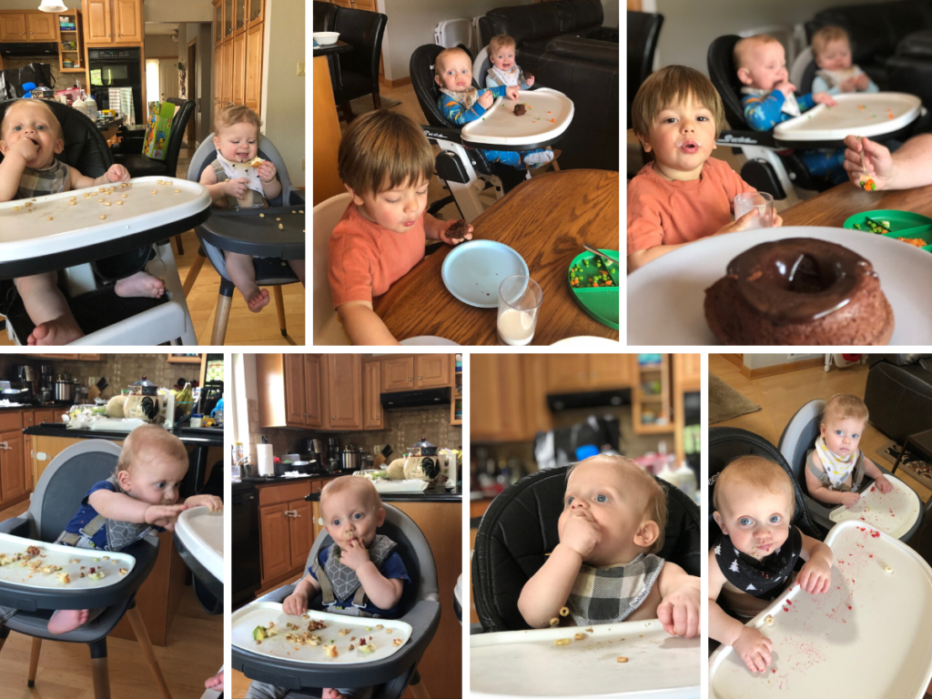 Messy Twins Eating