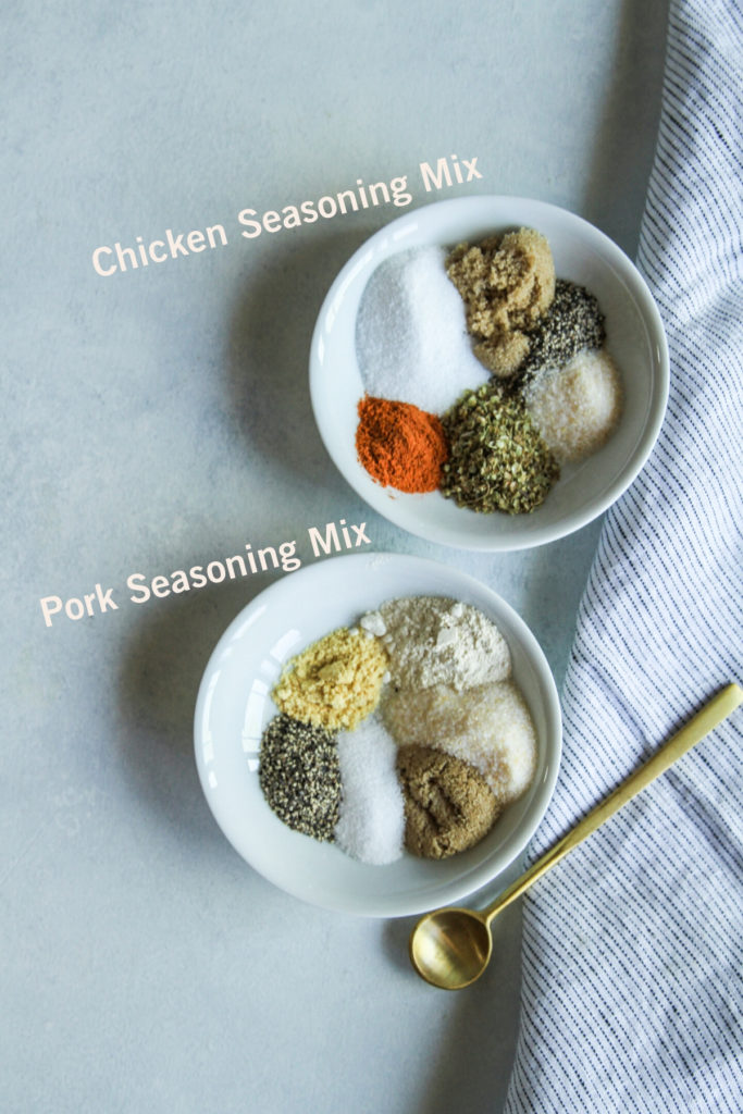 Chicken and pork seasoning mixes