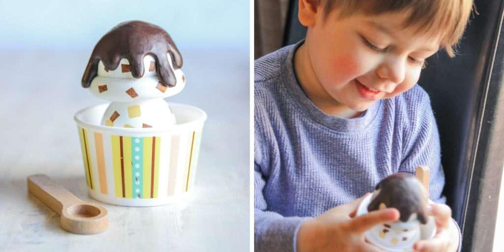 Kids ice cream scoop play set