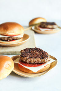 Pizza burgers recipe made with BUBBA Original Beef burgers