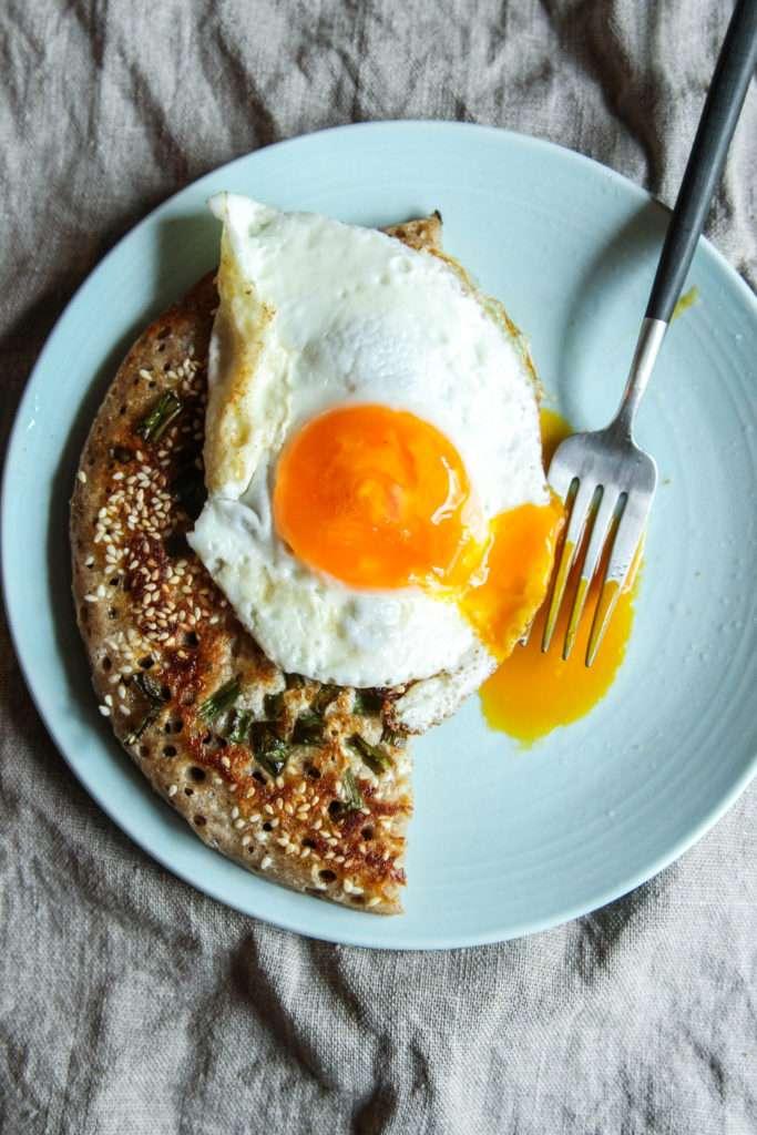 The best sourdough scallion pancake ever