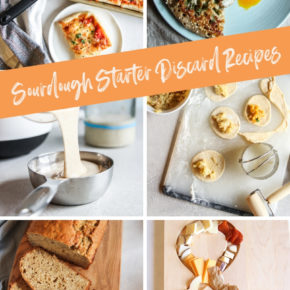 Sourdough starter discard recipes - zero waste sourdough starter