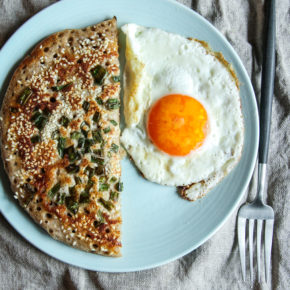 How to make a Sourdough starter scallion green onion pancake