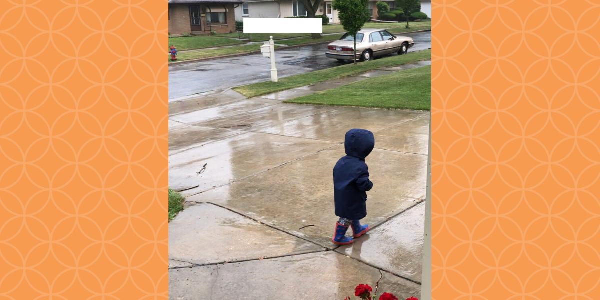 Ben playing in Rain