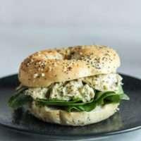 5 Ingredient pesto chicken salad sandwich