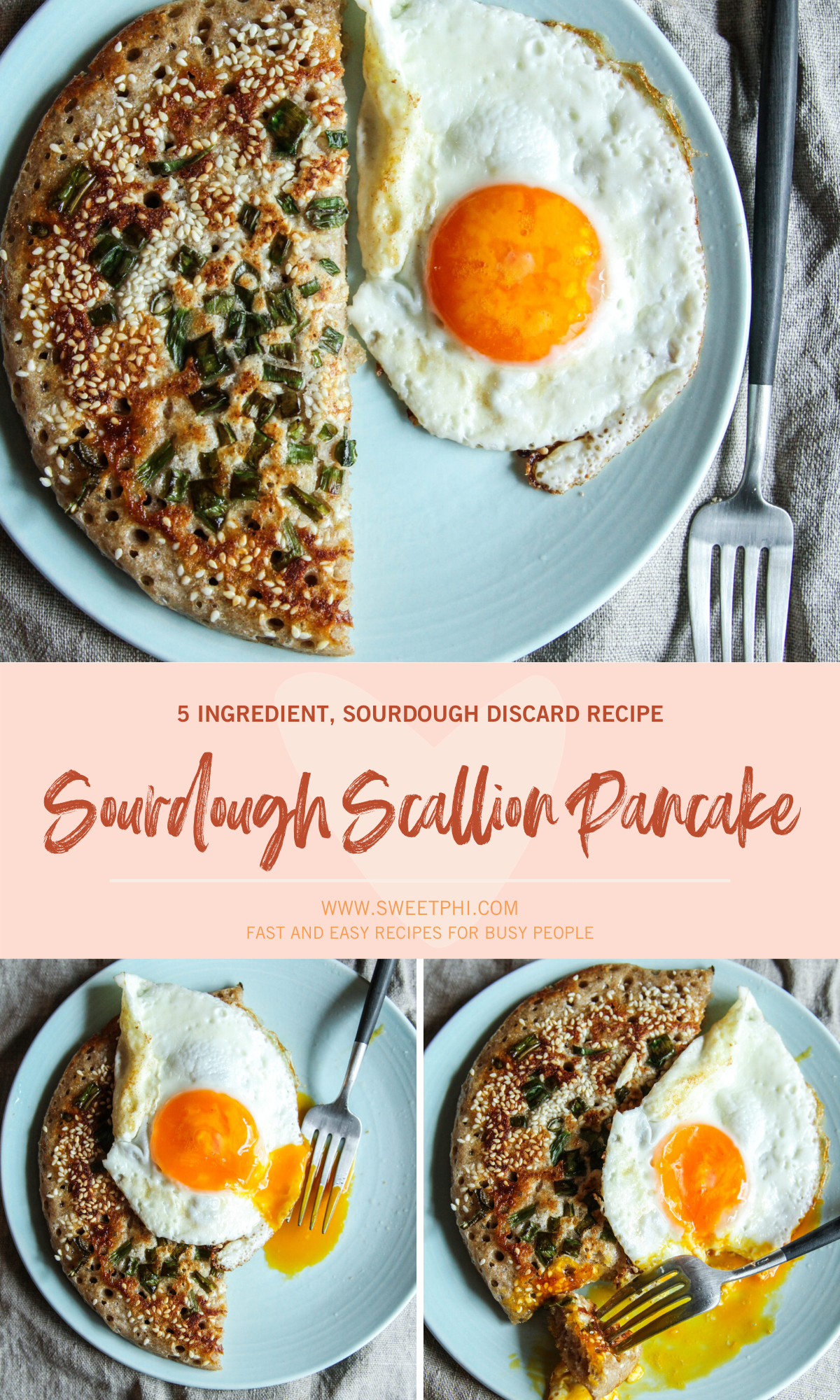 The most amazing sourdough Scallion Pancake with only 5 ingredients