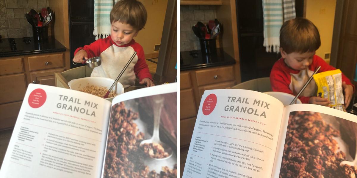 Ben making granola
