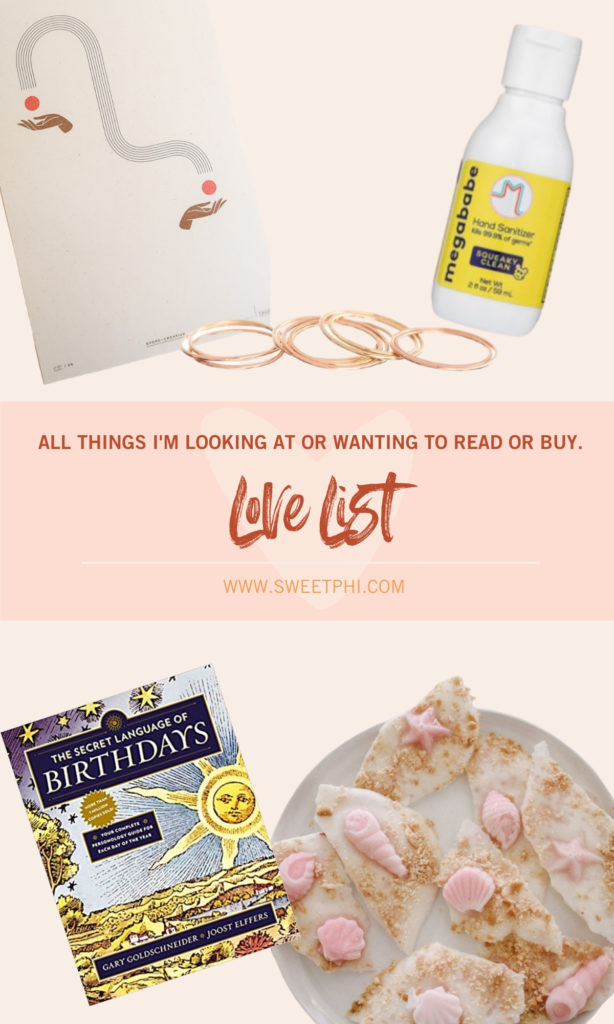 Love list for 7.2.2020 - things I'm loving and reading and wanting to buy