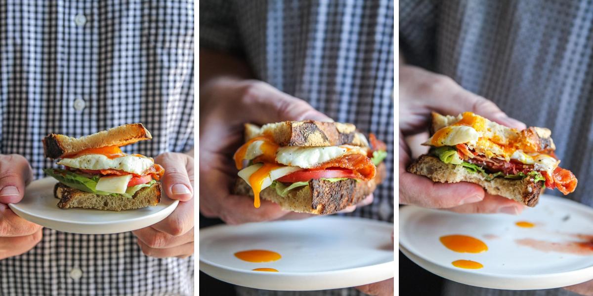 The best recipe for a beltch breakfast sandwich