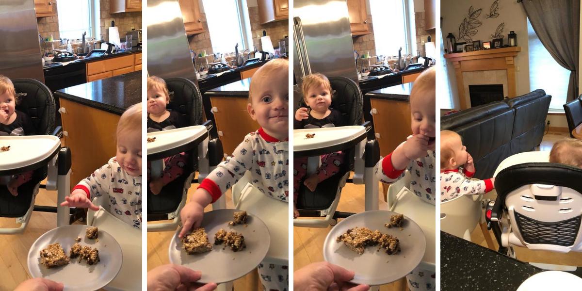 Freddie eating