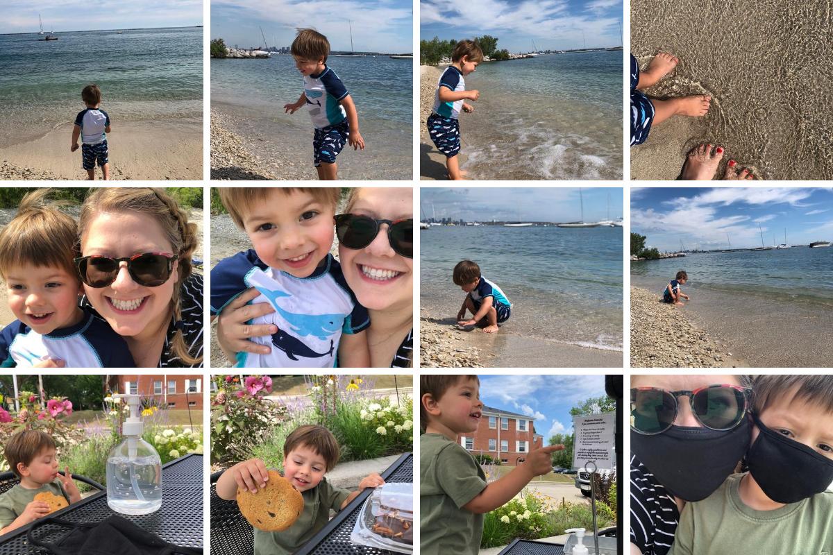 Beach day with Ben