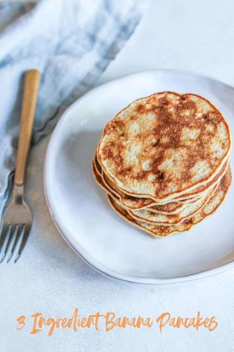 3 Ingredient banana pancakes that everyone will love