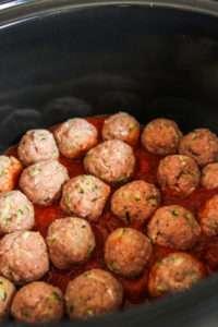 5 ingredient slow cooker turkey meatballs