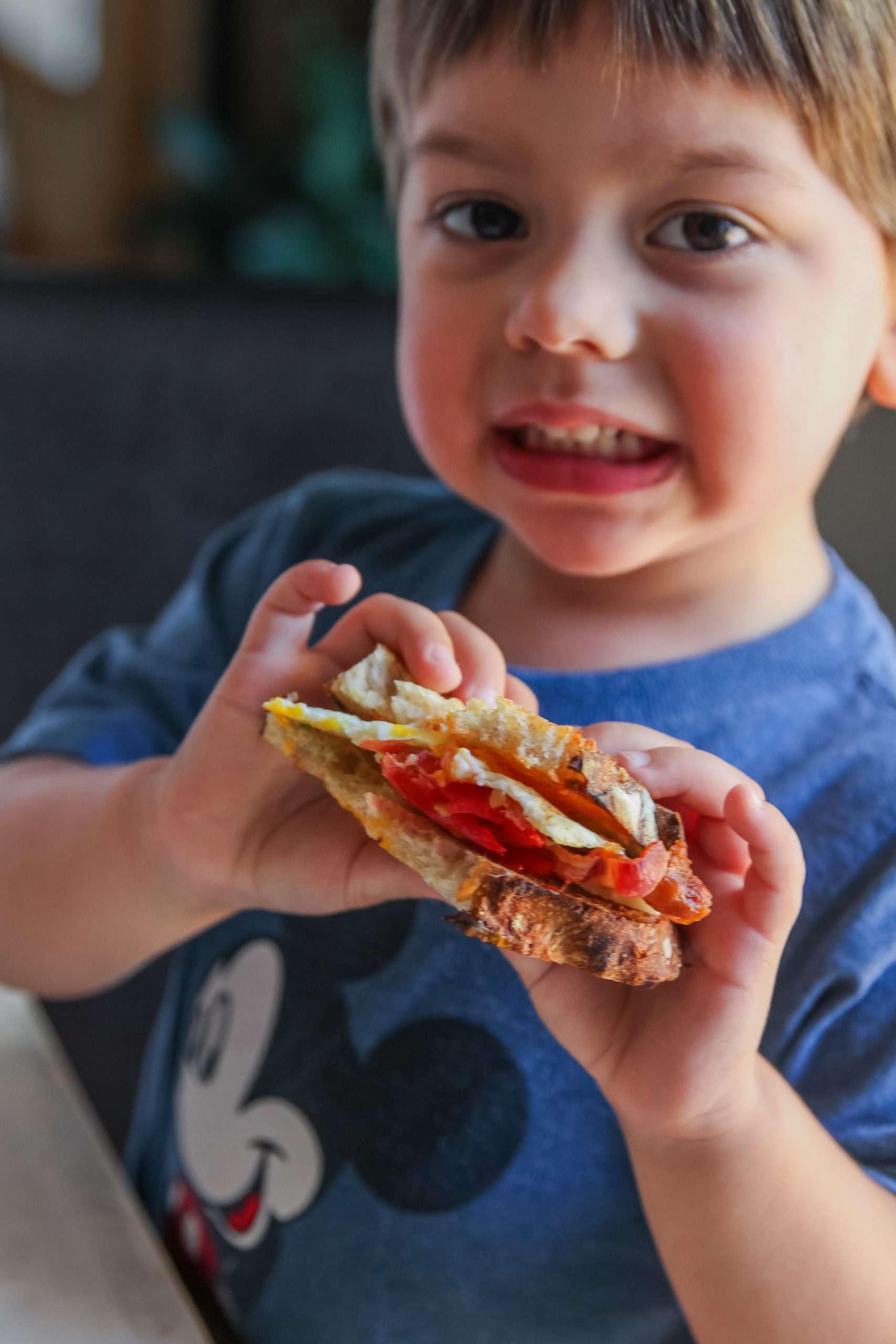 Beltch breakfast sandwich is kid approved