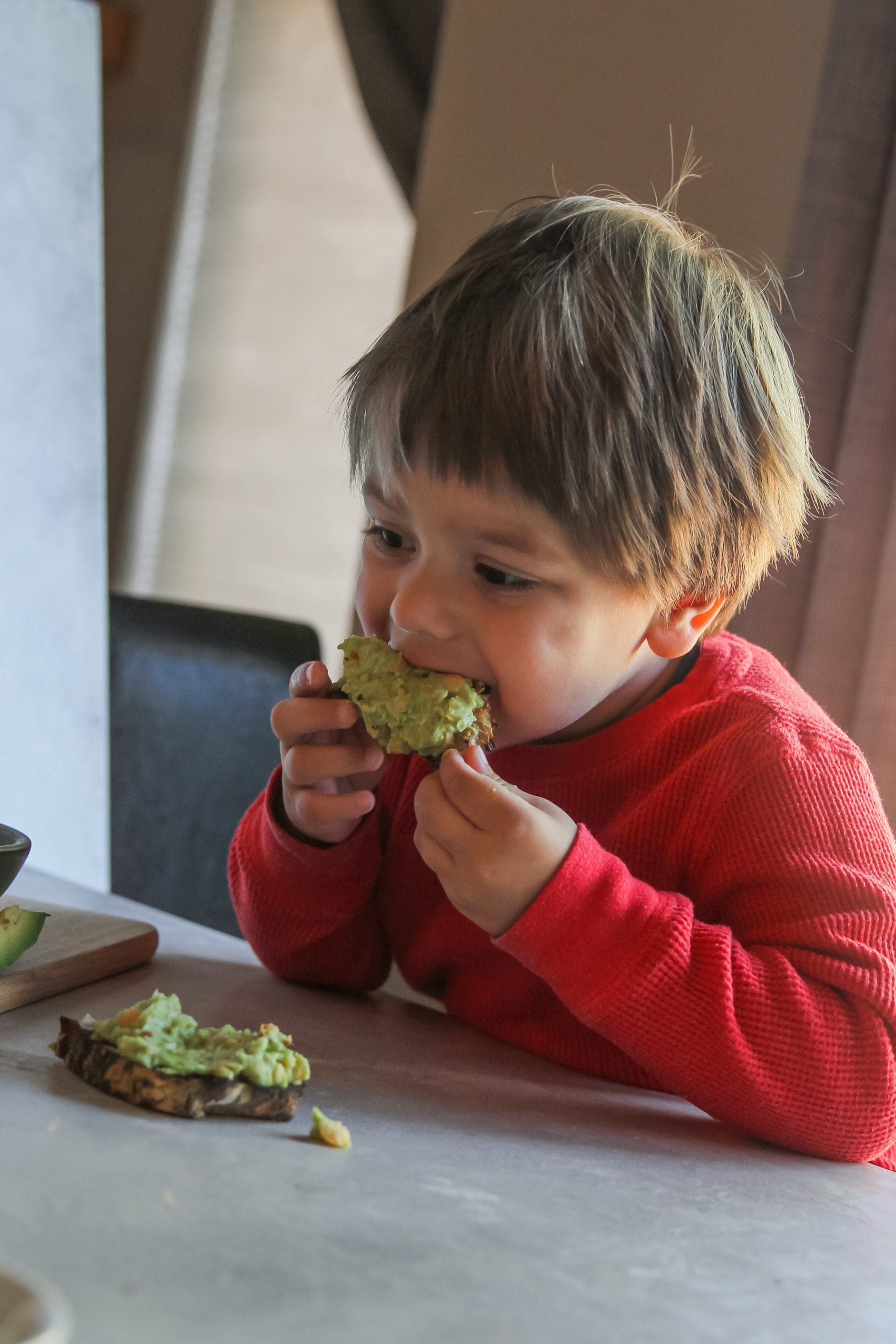 Kid approved chickpea avocado toast