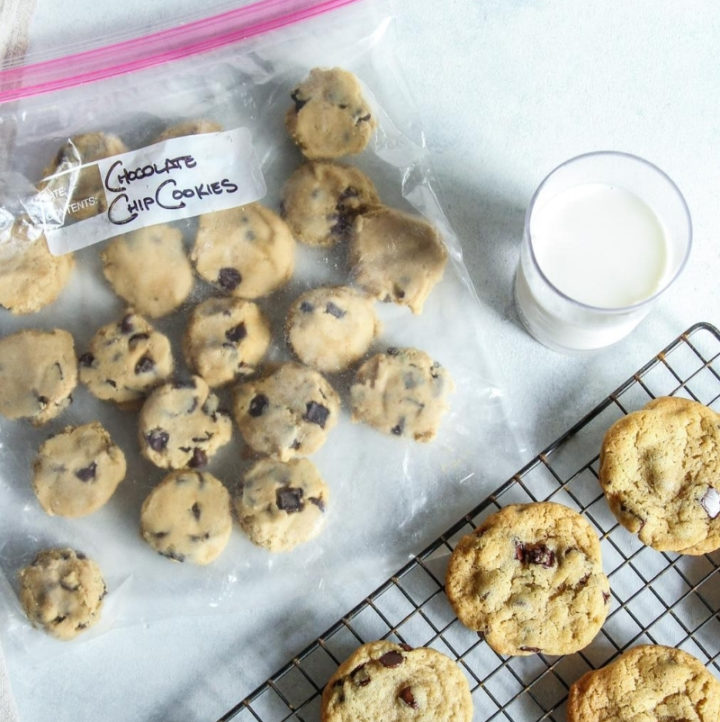 Freezer chocolate chip cookies