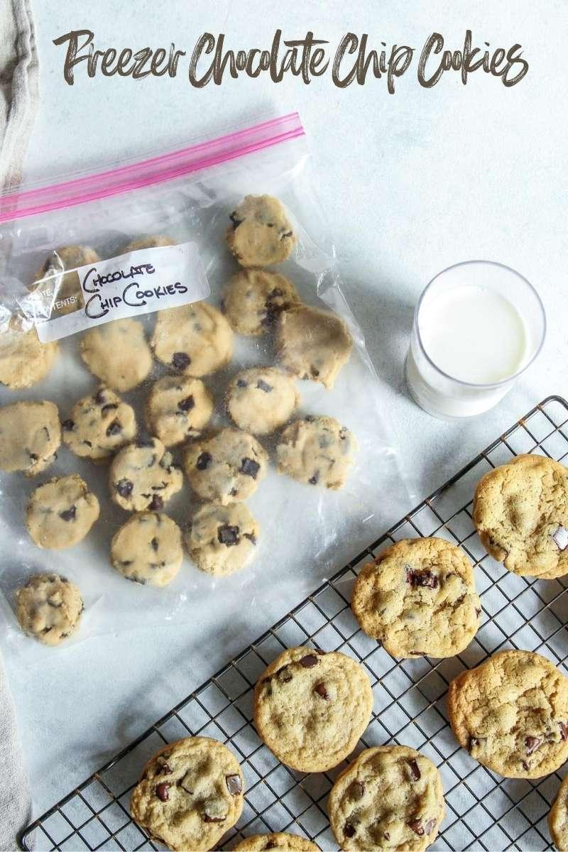 Freezer chocolate chip cookies