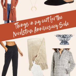 Things in my cart for the nordstrom anniversary sale 2020