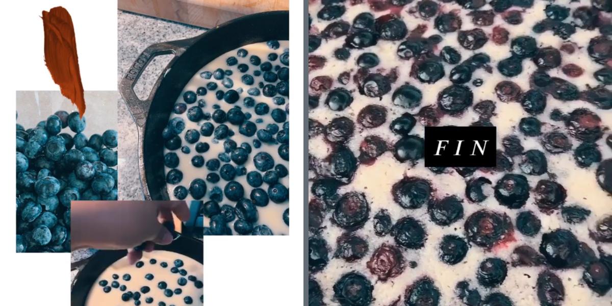 Blueberry skillet dump cake