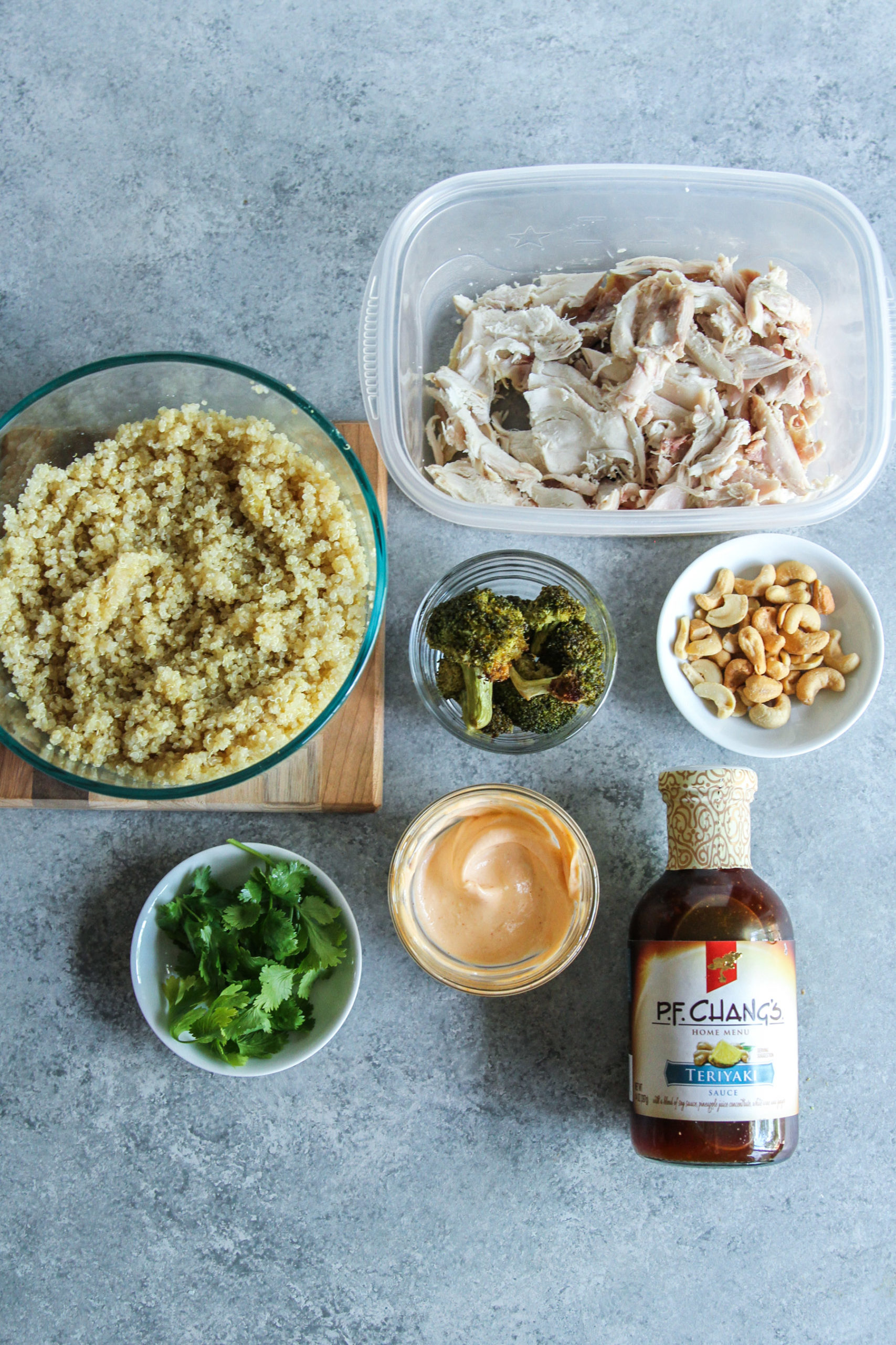 Asian chicken and quinoa bowls