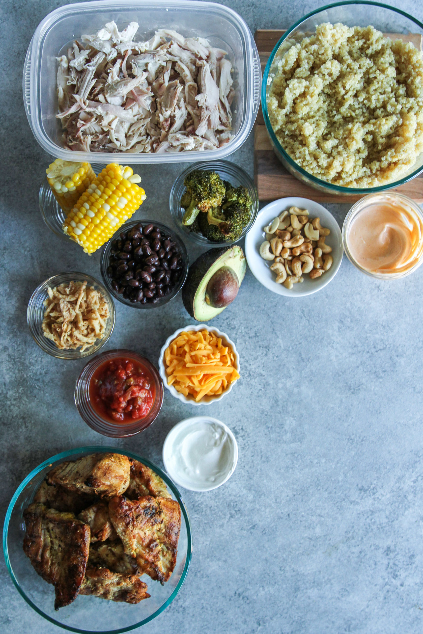 How to prep and make chicken and quinoa bowls