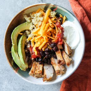 Mexican Chicken and Quinoa Bowl