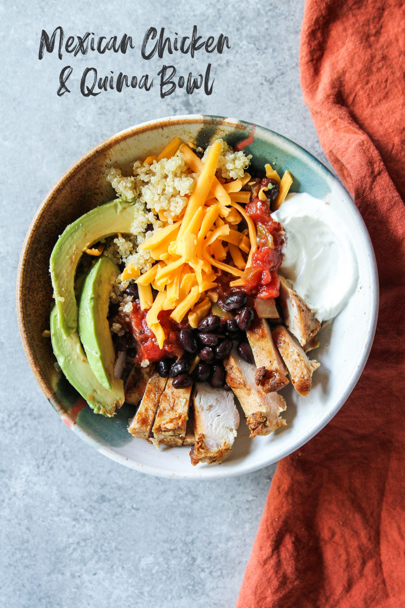 Mexican Chicken and Quinoa Bowl