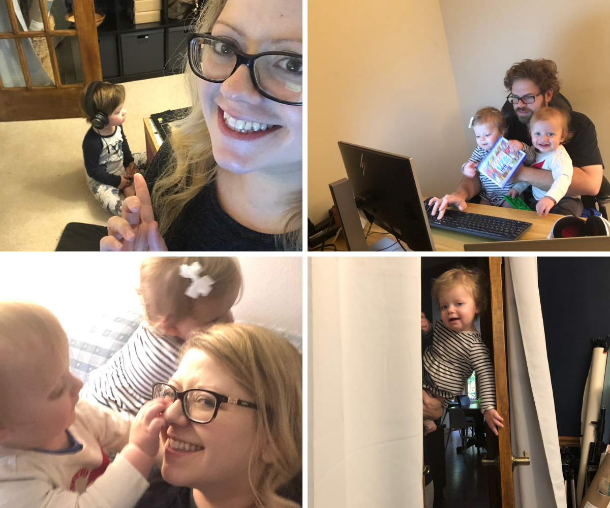 Scenes from working at home with kids