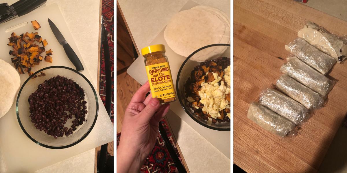Sweet potato black bean burritos recipe: