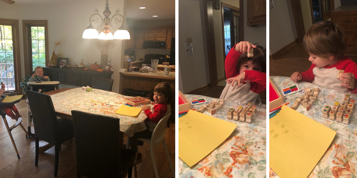 Crafting with the kids