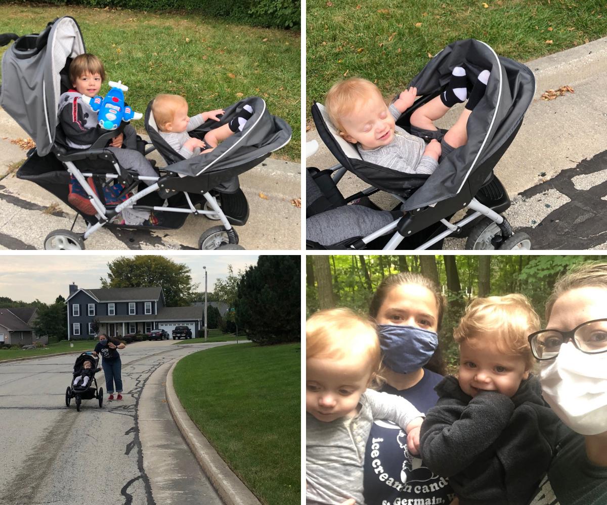 Family walk with Aunt Nina