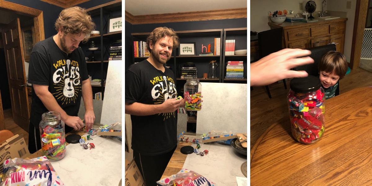 Ben's prize jar