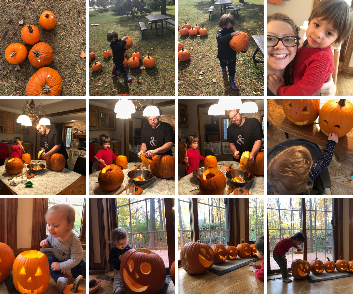 Pumpkin carving with the kids
