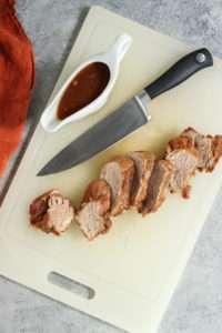 5 ingredient instant pot cranberry pork tenderloin