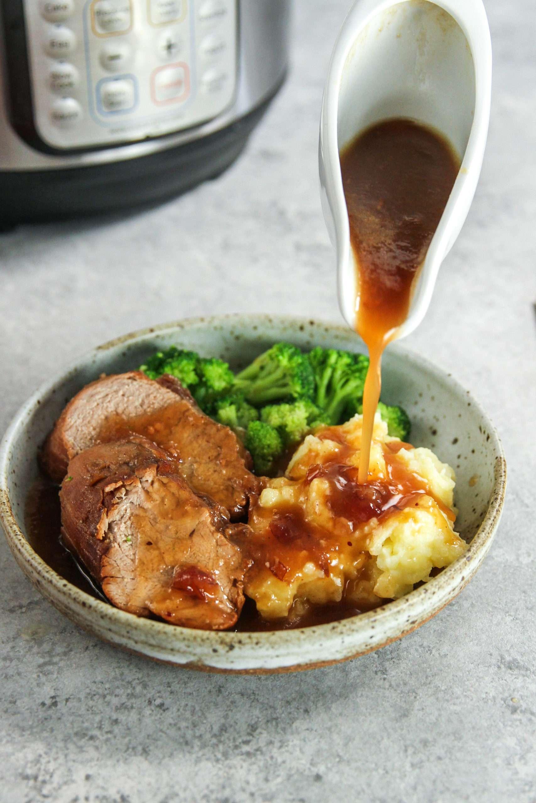 The most amazing instant pot cranberry pork tenderloin