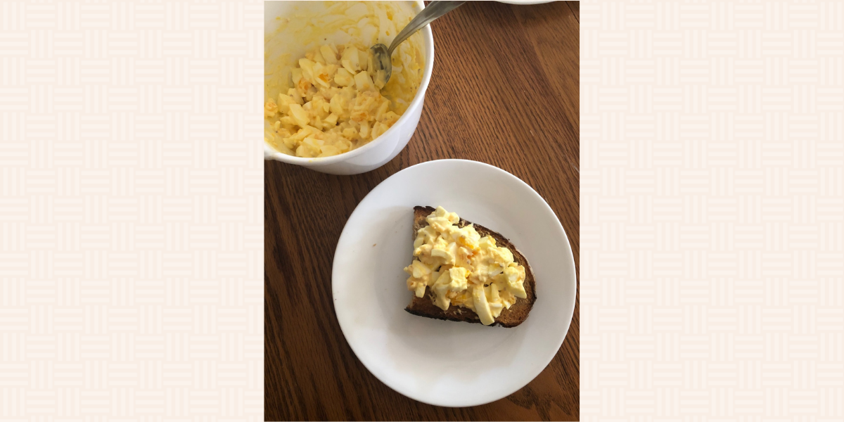 Nick made my classic egg salad this past week