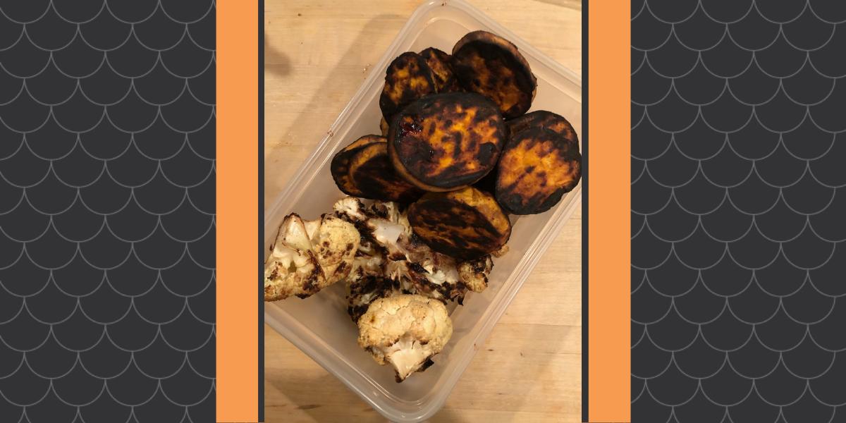 We made grilled sweet potatos