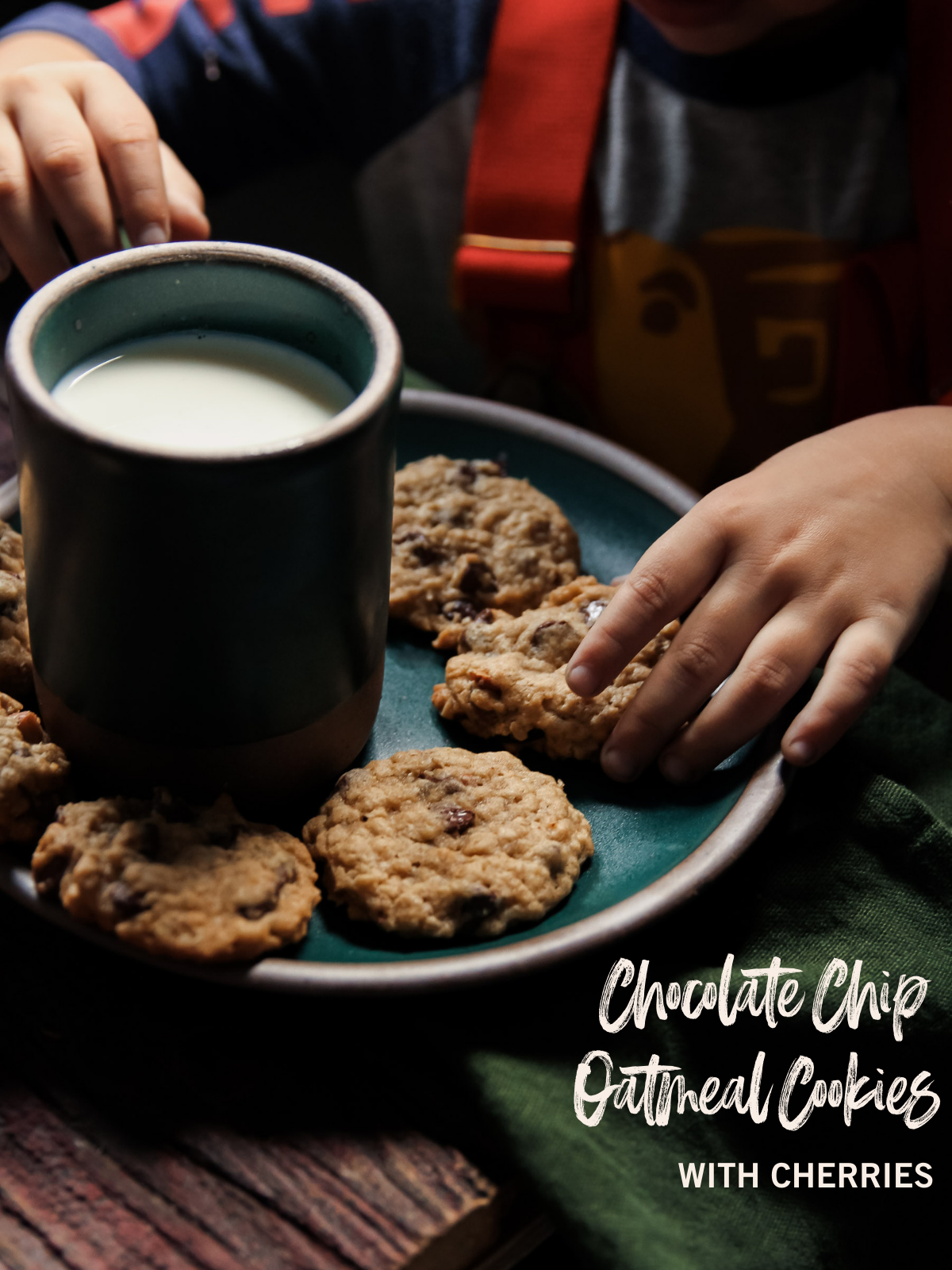 The best Chocolate Chip Oatmeal Cookies Recipe with cherries