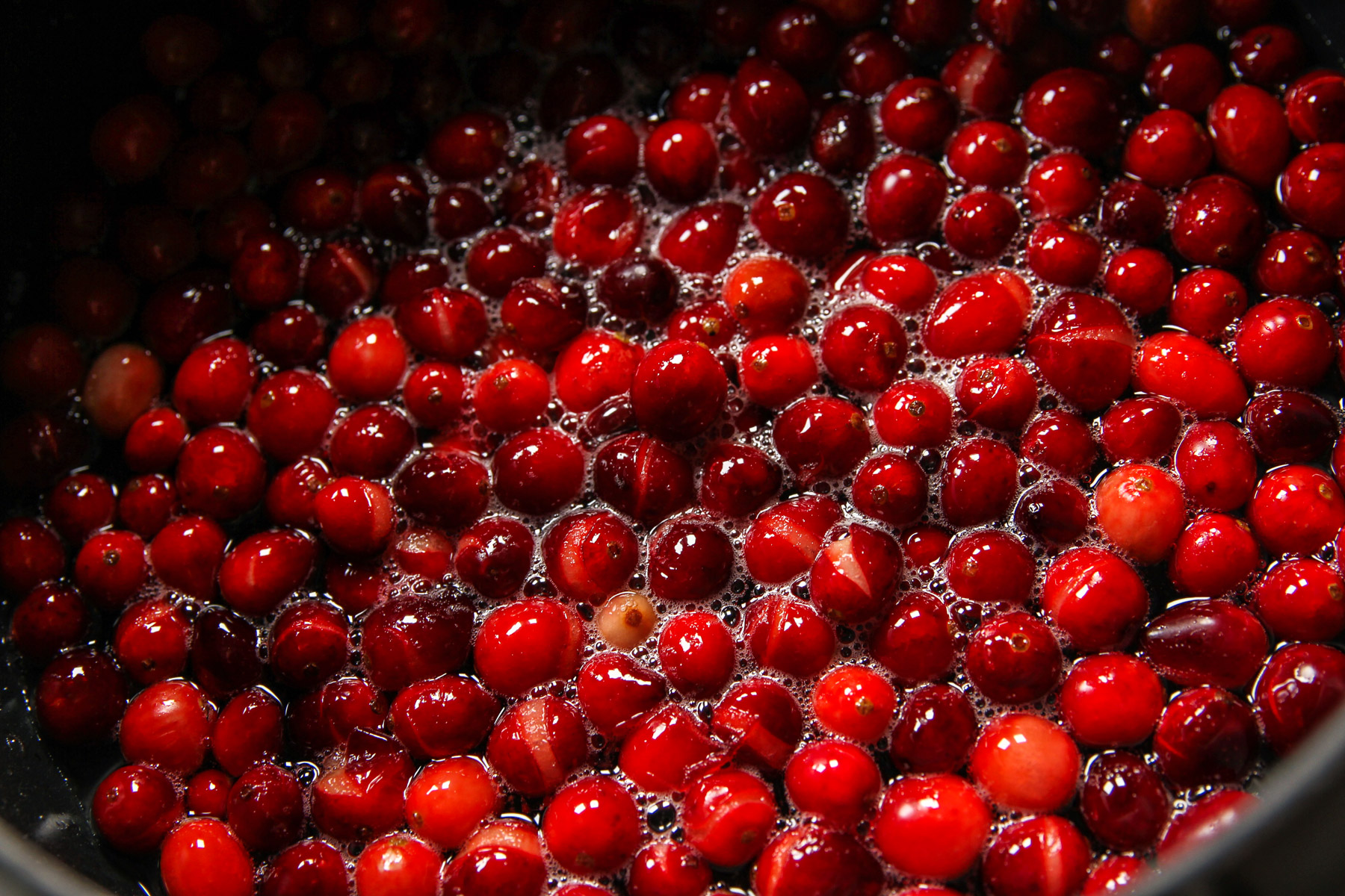 Classic cranberry sauce from the back of the bag