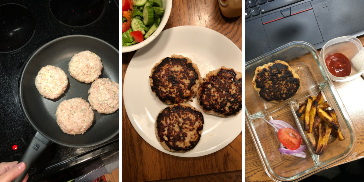 Sour cream and chive turkey burgers